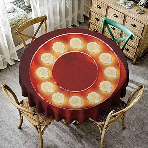 Rank-T Print Round Tablecloth 60