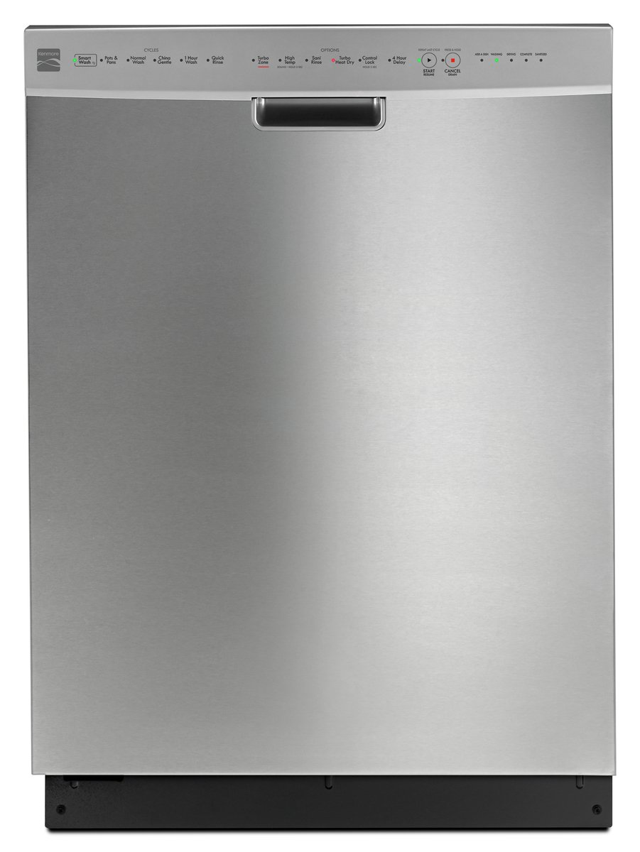 Amazon.com: Kenmore 14523 Dishwasher with Turbo Heat Dry/Turbo Zone Spray  Jets in Stainless Steel, includes delivery and installation (Available in  Select ...