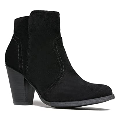 Women's Dorado-11 Western Ankle Boot New Black Suede 6