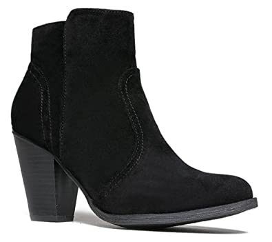 Women's Dorado-11 Western Ankle Boot New Black Suede 7