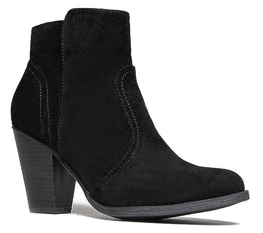 Women's Dorado-11 Western Ankle Boot Black Suede 6