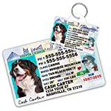 Tennessee Driver License Custom Dog Tag for Pets and Wallet Card - Personalized Pet ID Tags - Dog Tags For Dogs - Dog ID Tag - Personalized Dog ID Tags - Cat ID Tags - Pet ID Tags For Cats