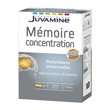 bc7c9e37dcbc4 Juvamine Mémoire Concentration 45 Gélules  Amazon.fr  HygiÚne et ...