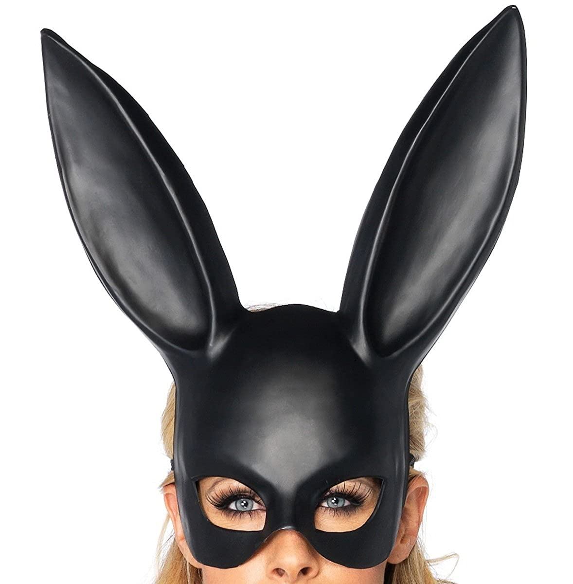 Amazon.com: Sorrica Adult Bunny Rabbit Ears Hairband Costume Masquerade Mask  for Birthday Party Easter Halloween (Black): Clothing