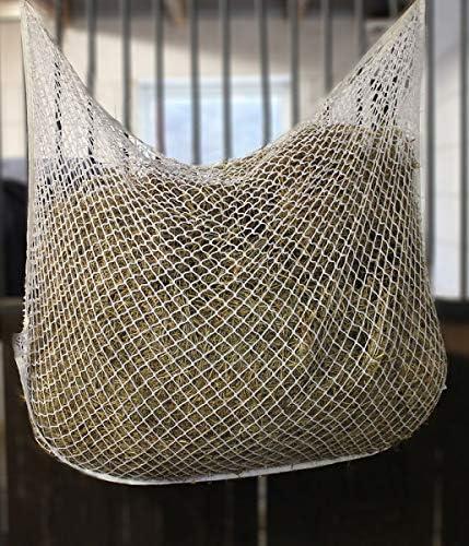 BigDean Heunetz 90x60 cm wei/ß 3x3cm Maschenweite Futternetz Futter Heu Netz Heutasche