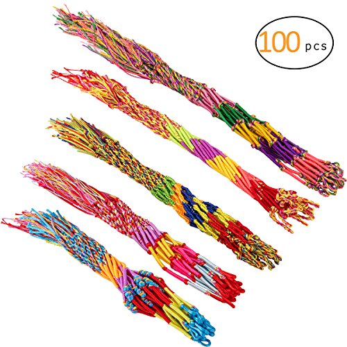 Cosweet 100 Pcs Handmade Friendship Bracelets Cords for Kids