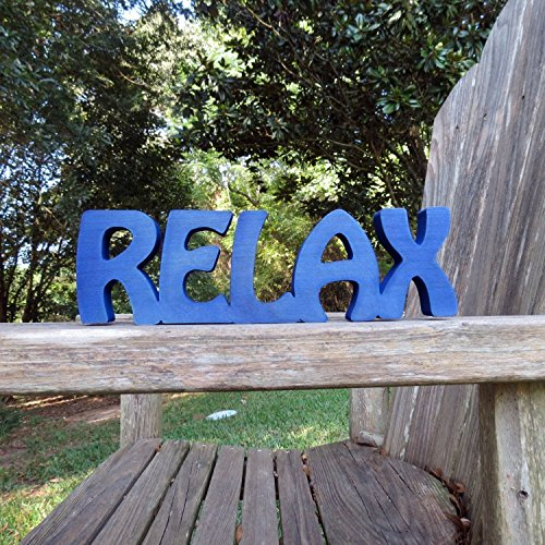 wood relax sign wall hanging or shelf sitter choice of colors