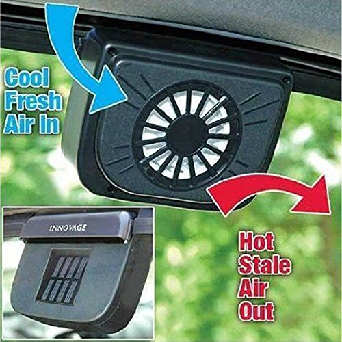 (Solar Powered Car Auto Cool Air Vent Cooler Cooling Fan Window Heat Fan Ventilaor Car Wehice Van)