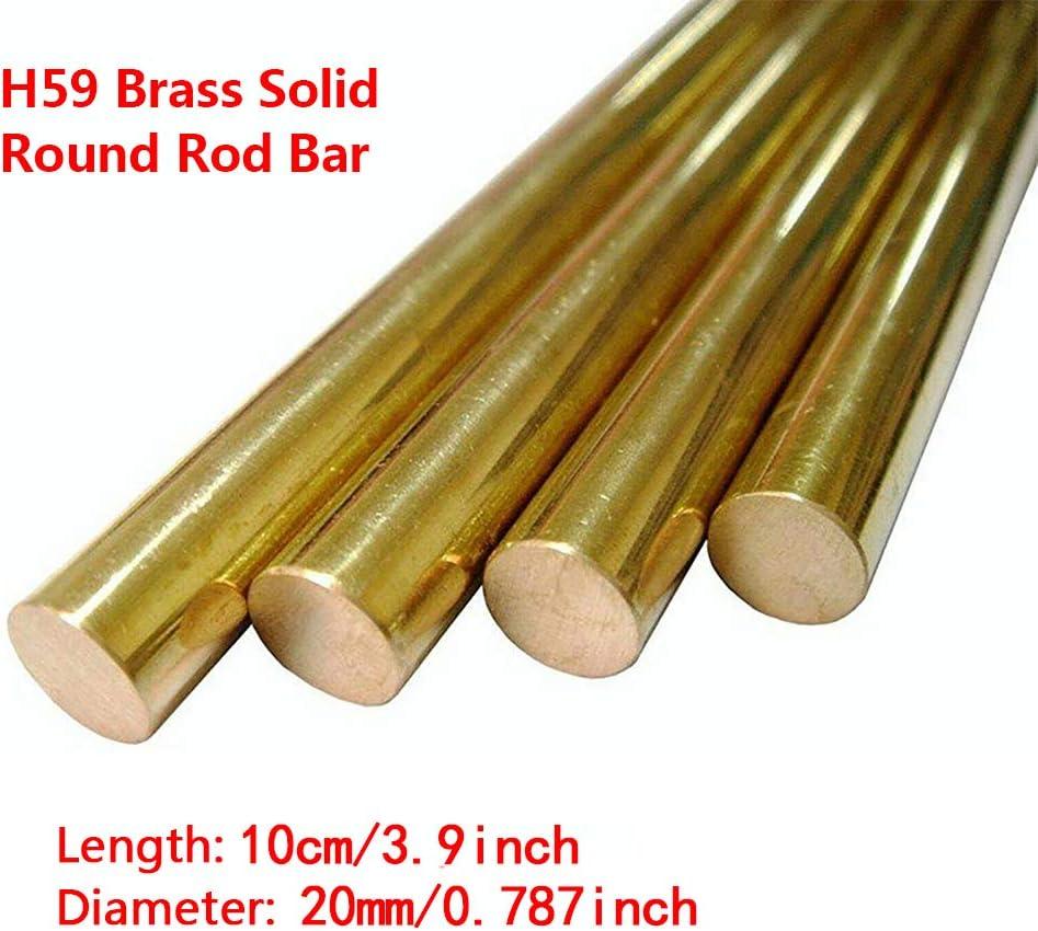 18 mm Diameter 18mm//20mm Solid Brass Round Bar Rod Lathe Bar Stock,Diameter MHUI 3.9inch//10cm