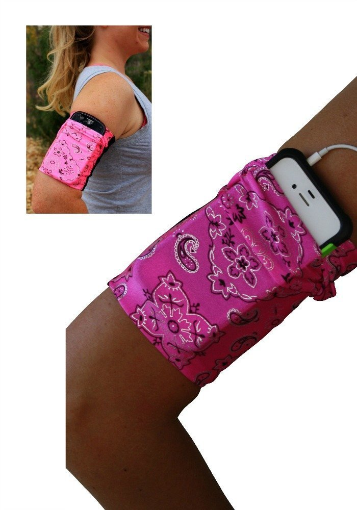 Pink Bandana Cell Phone Armband
