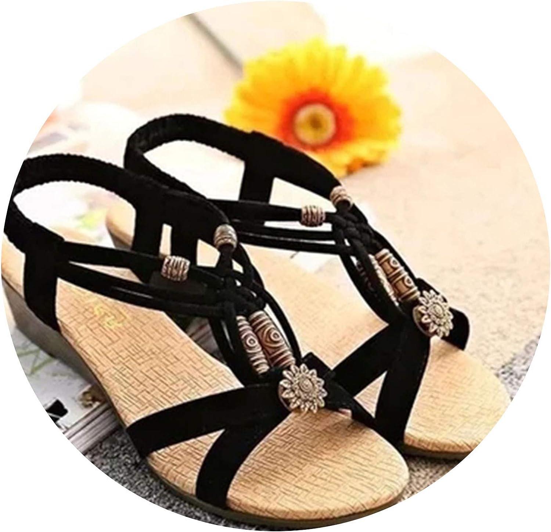Fragrancety Shoes Woman Sandals Women 2019 Summer String Bead Peep Toe Women Gladiator Sandalias Mujer 2019