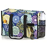 All Purpose Utility Tote Bag (17' L x 11' H x 6' D, Floral Medallions)