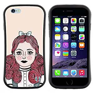 "Hypernova Slim Fit Dual Barniz Protector Caso Case Funda Para Apple (5.5 inches!!!) iPhone 6 Plus / 6S Plus ( 5.5 ) [Redhead chica Pastel Tones""]"