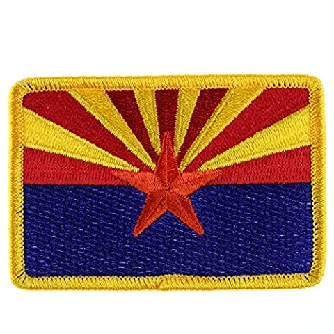 Velcro Patch : Arizona Flag - Full Color (Desert Arizona Flag Patch)