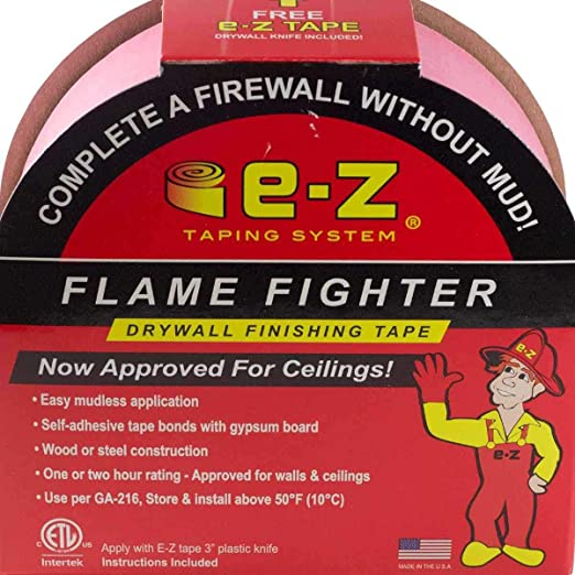 E-Z Taping System 99251-12-3 Flame Fighter Drywall Fire Tape by E-Z Taping System