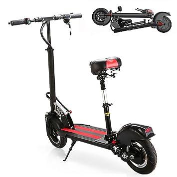 RDJM Patinete/Scooter eléctrico Dos Ruedas, con sillín ...