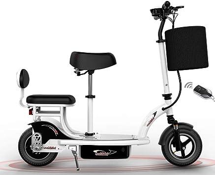 Scooter Eléctrico para Adultos Con Asiento de 24V / 350W / 14A Patada Scooter de Rueda de Bicicleta Grande Electro Carga Máxima 100 Kg Tráfico Motorizado Adecuado Para Adultos Y Adolescente,Blanco: Amazon.es:
