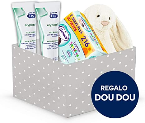 Cesta Bebé + Regalo Doudou (Cesta + Duplo Eryplast + Toallitas ...
