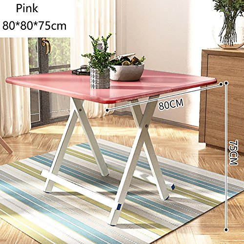 MS Portable Small Folding Dining Table - Kitchen Camping - Wooden Square Foldable Tea Coffee Table - Computer Workstation - Aluminum Alloy Legs and Anti-Slip Mat @ - Aluminum Tea Table