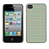 WonderWall Wallpaper Fancy Picture Image Hard Case Cover Protection Black Edge for Smartphone Apple Iphone 4 4S - Small Hearts