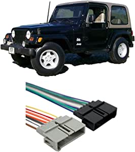 Amazon.com: Compatible with Jeep Wrangler 1997-2002 Factory ... on 1993 jeep radio wiring, chevrolet cavalier radio wiring, w203 radio wiring, nissan murano radio wiring, smart fortwo radio wiring, toyota yaris radio wiring, chrysler voyager radio wiring, dodge ram radio wiring, suzuki vitara radio wiring, 2004 jeep wiring, mazda 626 radio wiring, jeep cj5 wiring, jeep commander radio wiring, lincoln ls radio wiring, 1997 jeep radio wiring, jeep wiring diagram, jeep cherokee radio wiring, jeep cherokee wiring harness, mitsubishi galant radio wiring, dodge stratus radio wiring,