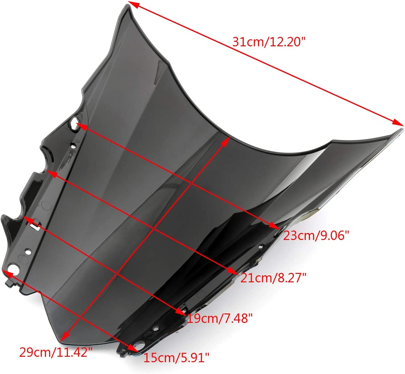 Artudatech Windshield Windscreen For Yamaha YZF-R25 2014-2016 YZF-R3 2015-2016丨ABS Plastic Injection丨2014 2015 2016