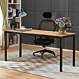 NeedHome Computer Desk 63inches Large Desk Writing Desk with BIFMA Certification Workstation Office Desk, Teak&Black AC3BB-160-SH ...
