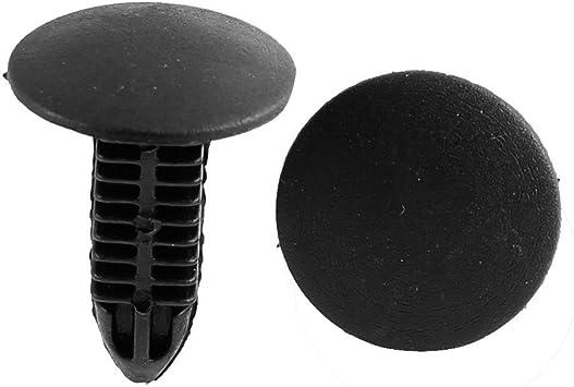 100x 7mm Plastic Rivet Black Push Interior Trim Panel Car Door Clips