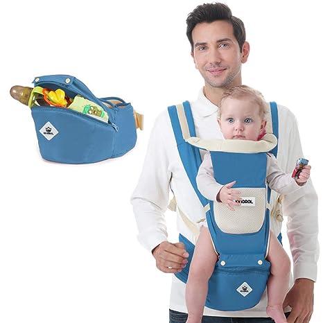 Kingrol - Mochila Portabebés Ergonomica con Asiento de Cadera para Niñas Niños Pequeños 1-3