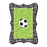 Big Dot of Happiness GOAAAL! - Soccer - Unique Alternative Guest Book - Baby Shower or Birthday Party Signature Mat