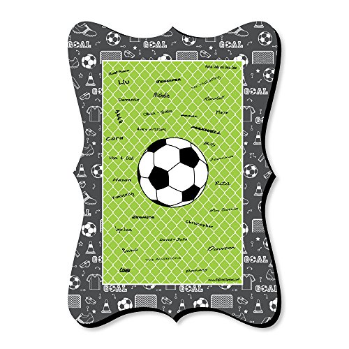 GOAAAL! - Soccer - Unique Alternative Guest Book - Baby Shower or Birthday Party Signature -