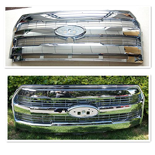 King Ranch Pickup - 15-16 FORD F150 KING RANCH ABS OE STYLE Grill Grille Replace Pickup Truck (15-16 FORD F150 KING RANCH ABS OE STYLE Chrome Grill Grille Replace Pickup Truck)