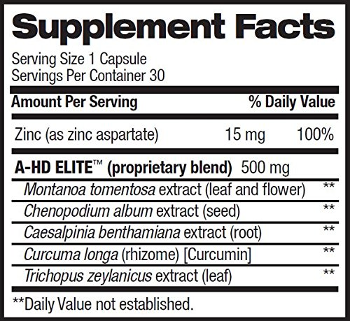 BPI Sports A HD Elite/Solid Combo 500/550mg Testosterone Booster Capsules, 60 Count