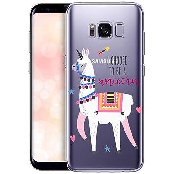 OOH!COLOR Carcasa para Móvil Compatible con Funda Samsung Galaxy S8 Silicona Animales Transparente Suave Bumper Teléfono Caso para Samsung S8 con ...
