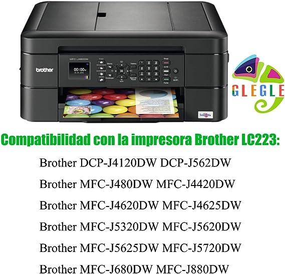 GLEGLE LC223XL Cartuchos Tinta Brother 10 Multipack Reemplazo para ...