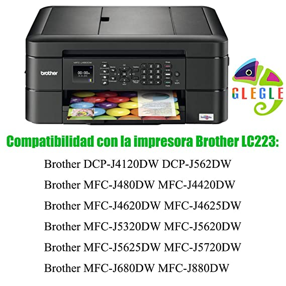 GLEGLE LC223XL Cartuchos Tinta Brother 10 Multipack Reemplazo para ...