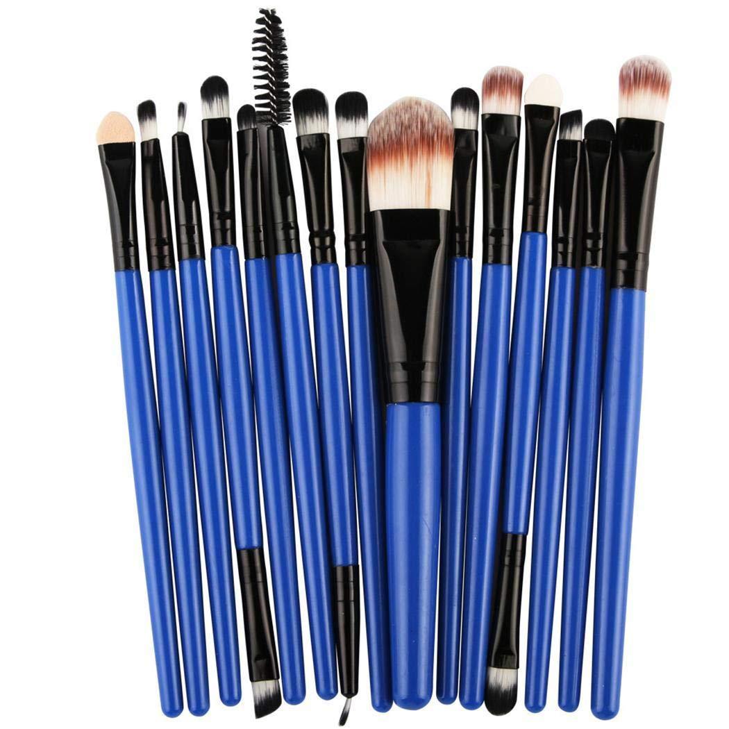 Sisaki Pennelli Make up per il Trucco Professionali Set di 15 Spazzole Viso Volto Ombretti con Soffici Fibre Sintetiche