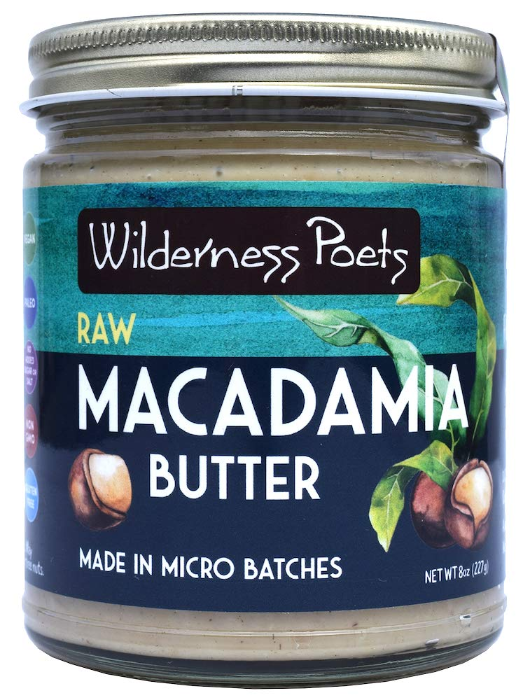 Wilderness Poets, Raw Macadamia Butter, 8 Ounce by Wilderness Poets (Image #1)