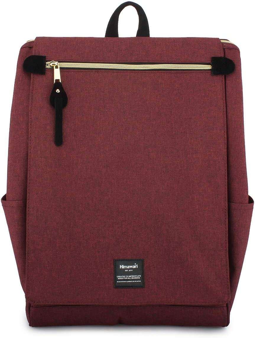 Himawari Travel School Backpack with Laptop Compartment for Women Men 15.6 inch -AT1112 Wine Red