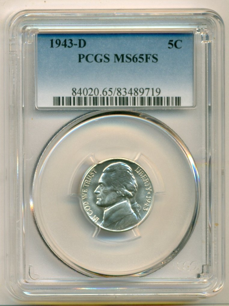 1943-D       PCGS    MS65FS       JEFFERSON  5c