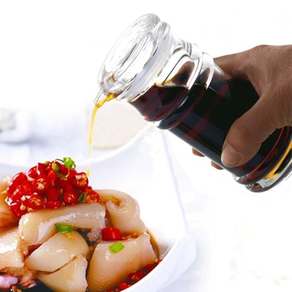 120/150/210ml Transparent Acrylic Sauce Bottle Clear Acrylic Vinegar Olive Oil Bottle BBQ Dispenser Shaker Seasoning Bottle for Home Kitchen Cooking Tool (120ML,Transparent-120ML) by YOEDAF (Image #4)