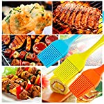 HOBOYER Silicone Basting/BBQ/Barbecue/Cooking/Pastry/Grill Meat Oil Brush, Food Grade Silicone Material Kitchen Gadgets High Temperature Brushes for Marinating, Cooking, Grilling,Baking (Orange) 10 【Material】The products use hiagh quality food grade silicone,BPA free,FDA Approved certification.Promise will not cause any harm to you and your family's health, please rest assured that use. 【Functions】Suitable for cooking, baking and Grill BBQ basting.Added ergonomic design, in line with the use of habits and cookware design. 【Durable】The bristles are flexible and can be used to brush the utensils cleanly, leaving no residue and being durable.Heat-resistant and easy on non-stick pans.