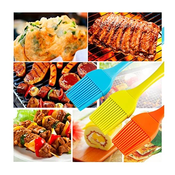 HOBOYER Silicone Basting/BBQ/Barbecue/Cooking/Pastry/Grill Meat Oil Brush, Food Grade Silicone Material Kitchen Gadgets High Temperature Brushes for Marinating, Cooking, Grilling,Baking (Orange) 4 【Material】The products use hiagh quality food grade silicone,BPA free,FDA Approved certification.Promise will not cause any harm to you and your family's health, please rest assured that use. 【Functions】Suitable for cooking, baking and Grill BBQ basting.Added ergonomic design, in line with the use of habits and cookware design. 【Durable】The bristles are flexible and can be used to brush the utensils cleanly, leaving no residue and being durable.Heat-resistant and easy on non-stick pans.