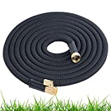 Expandable Garden Hose 75 Ft Long | Heavy Duty Water Hose | Retractable Hose for Gardening Car Wash RV Motorhome Camper Accessories Flexible Kink Free Marine Hose