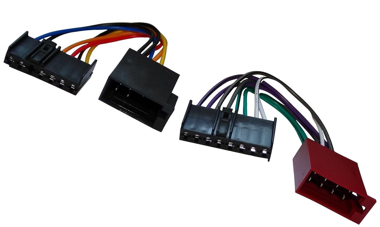 AERZETIX: Adaptador cable enchufe ISO para radio de coche, vehiculos C11920: Amazon.es: Coche y moto