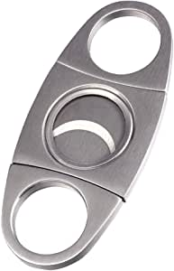 YOMYM Cigar Cutter Guillotine Double Cut Blade Round Head Stainless Steel