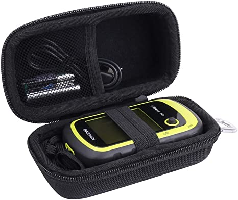 20 30 35t and Touch 35 Handheld GPS Case Compatible with Garmin eTrex 10 25 with Carabiner for Easy Carrying All in one Compact case for eTrex and Charger Cord 20x 30x