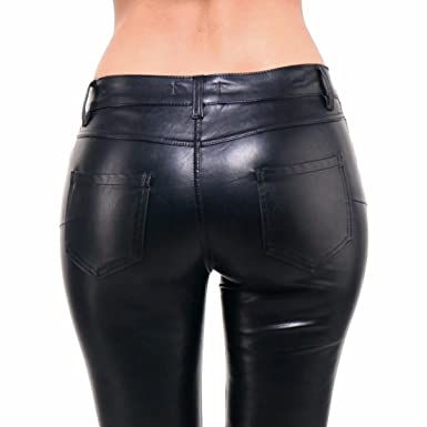 0f70afa7df Pantalon Cuir Simili Femme Jeans Skinny Slim Push Up Noir Stretch Taille S/36  à