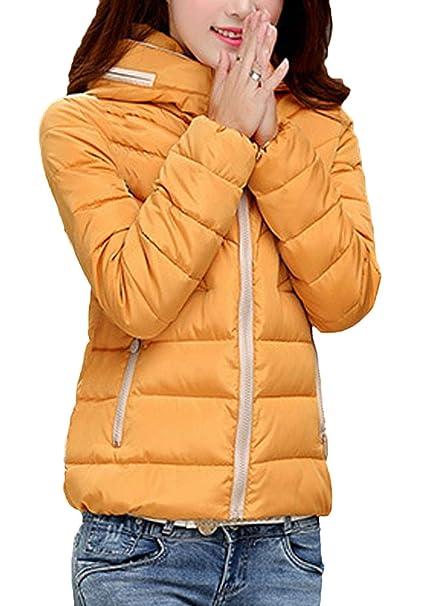 Mujer Invierno Plumas Larga Talla Abrigos Encapuchado Manga Grande qq1CFrwz
