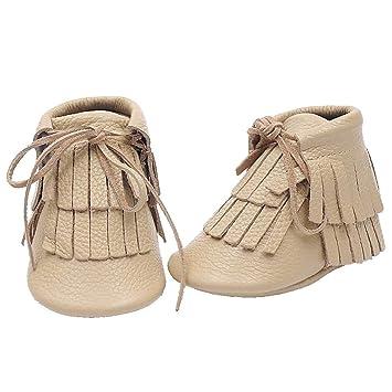 ZHRUI Bebé Niños Botas de Nieve Niño recién Nacido Recién Nacido Duro/Suave Suela Calcetines
